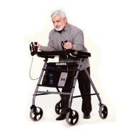 واکر چهار چرخ ایستاشو Four-wheeled walker